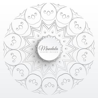 Elegancki indyjski mandali wzór tła