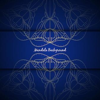 Elegancki kolor mandali niebieskiego koloru