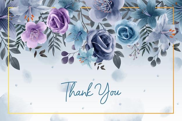 Elegancki kwiat akwarela pozostawia projekt na zaproszenie na ślub
