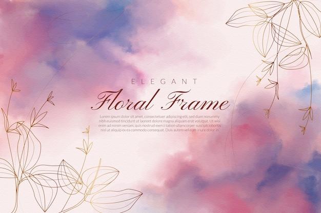 Elegancki kwiatowy kartkę z życzeniami z różowym i niebieskim proszkiem