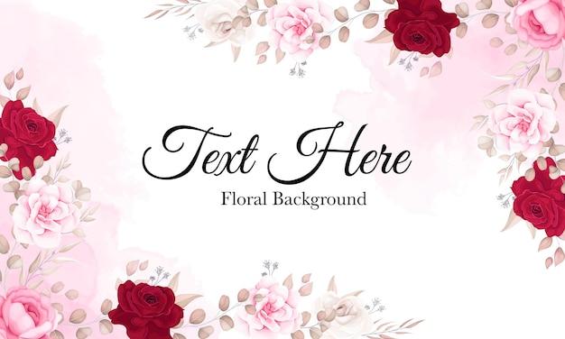 Elegancki kwiatowy tło z pięknymi ornamentami kwiatowymi