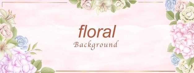 Elegancki kwiatowy tło