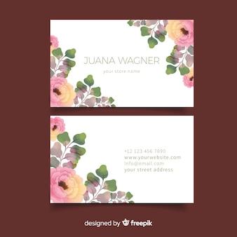 Elegancki kwiatowy wizytówki szablon