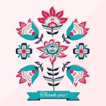 Elegancki kwiatowy wzór karty