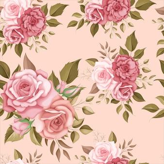 Elegancki kwiatowy wzór z romantycznymi różami