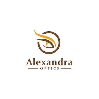 Elegancki list wstępna koncepcja logo