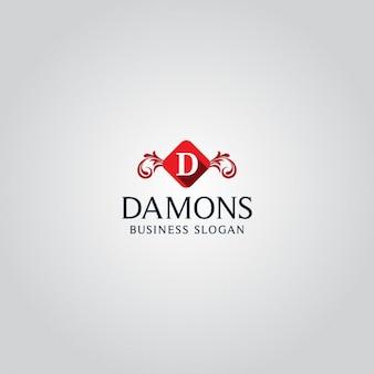 Elegancki litera d logo