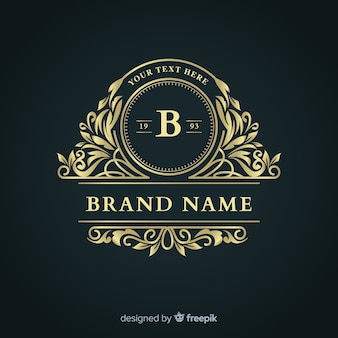 Elegancki logo firmy ozdobnych szablon