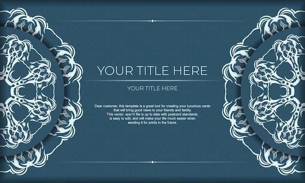 Elegancki, luksusowy design na niebieskim tle. nadaje się do etykiet, odznak, ramek, logo, mydeł, słodyczy, czekolady.