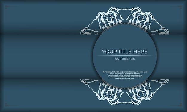 Elegancki, luksusowy design na niebieskim tle. nadaje się do etykiet, odznak, ramek, logo, opakowań, balsamów, mydeł, słodyczy, czekolady.