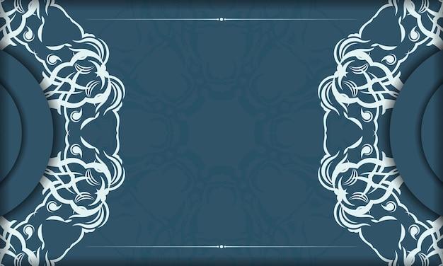 Elegancki, luksusowy design na niebieskim tle. nadaje się do etykiet, opakowań, perfum, balsamów, mydeł, słodyczy, czekolady.