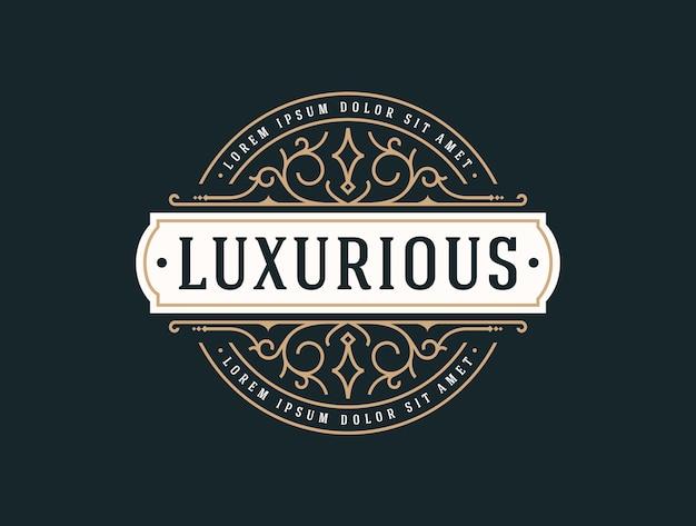 Elegancki luksusowy szablon logo