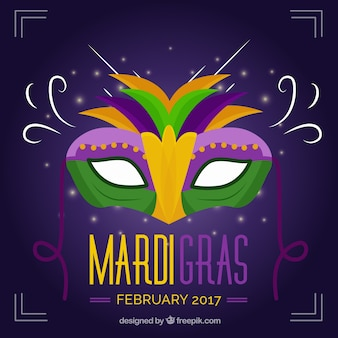Elegancki mardi gras maska tle