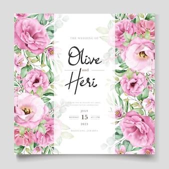 Elegancki miękki kwiatowy wizytówka szablon