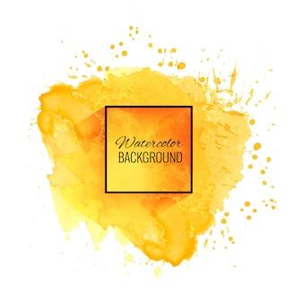 Elegancki miękki żółty akwareli tło
