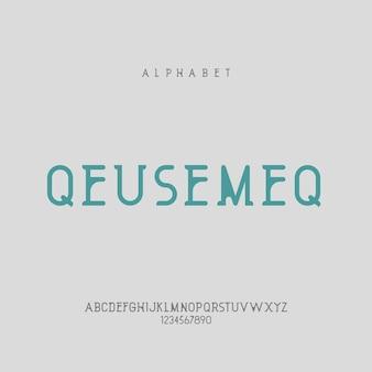Elegancki minimalis nowoczesna litera alfabetu lub czcionka czcionki typograficzne czcionka logo czcionka premium wektor
