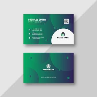Elegancki minimalistyczny i abstrakcyjny szablon wizytówki