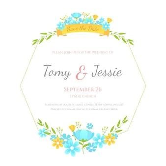 Elegancki motyw kwiatowy rama ślubu