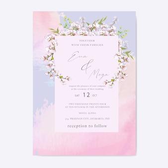 Elegancki motyw zaproszenia na ślub