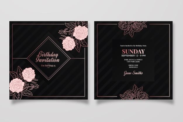Elegancki motyw zaproszenia urodzinowego