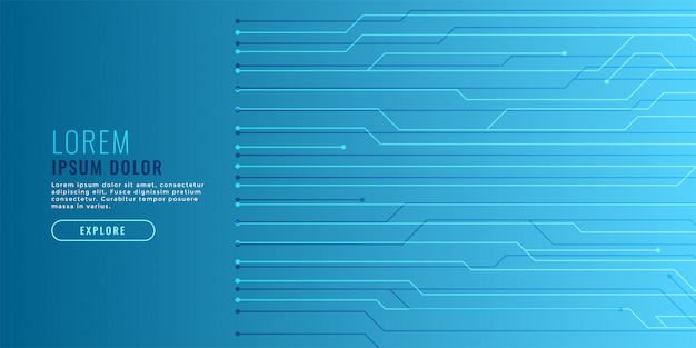 Elegancki niebieski technologia tło z linii obwodu