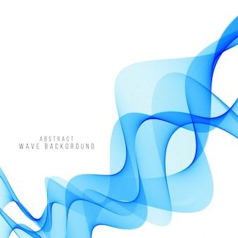 Elegancki niebieski wzór tła fali