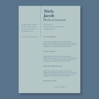 Elegancki, nowoczesny asystent medyczny list motywacyjny