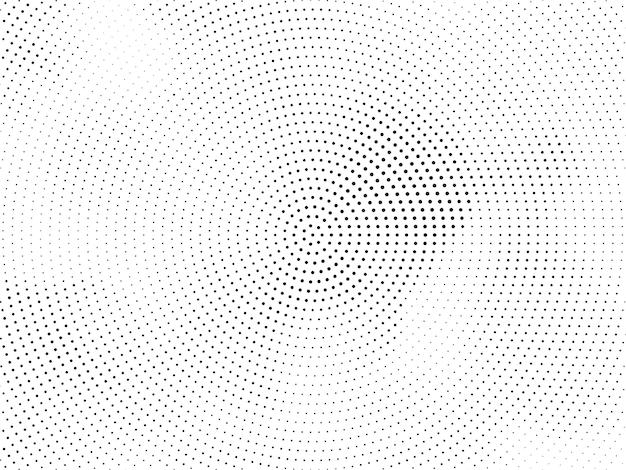 Elegancki okrągły wzór półtonów