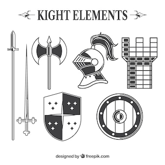 Elegancki pakiet elementów średniowiecznych