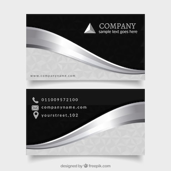 Elegancki pakiet profesjonalnych srebrnych kart