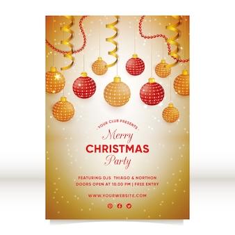 Elegancki plakat świąteczny