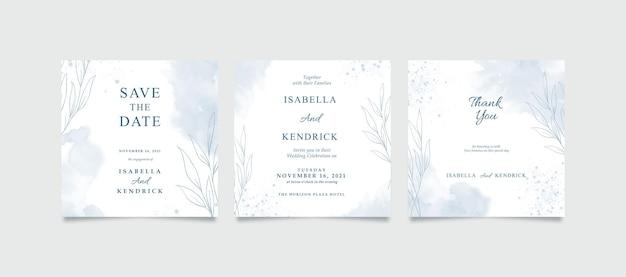 Elegancki post w mediach społecznościowych na ślub