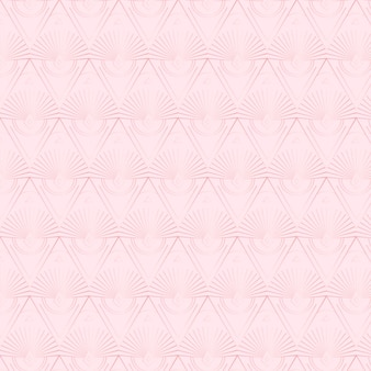 Elegancki, powtarzalny wzór w stylu art deco w kolorze różowego złota