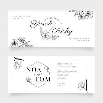 Elegancki projekt banera ślubnego