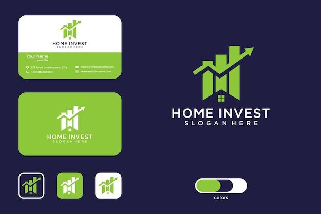 Elegancki projekt logo home invest i wizytówki