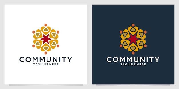 Elegancki projekt logo społeczności piękności