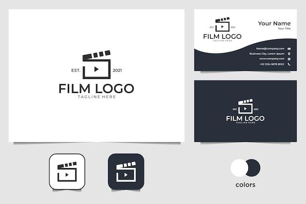 Elegancki projekt logo złota natura i szablon wizytówki