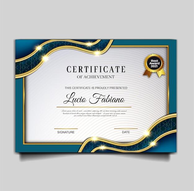 Elegancki projekt szablonu osiągnięcia certyfikatu