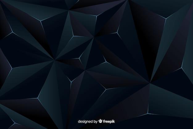 Elegancki projekt tła ciemne wielokątne