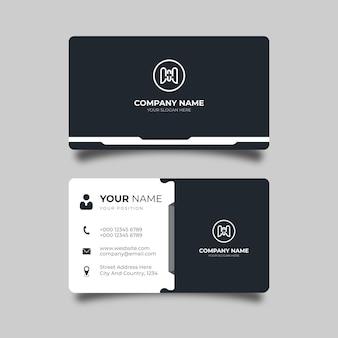 Elegancki projekt wizytówki firmy