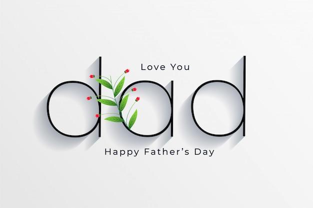 Elegancki styl szczęśliwy dzień ojca z życzeniami projekt