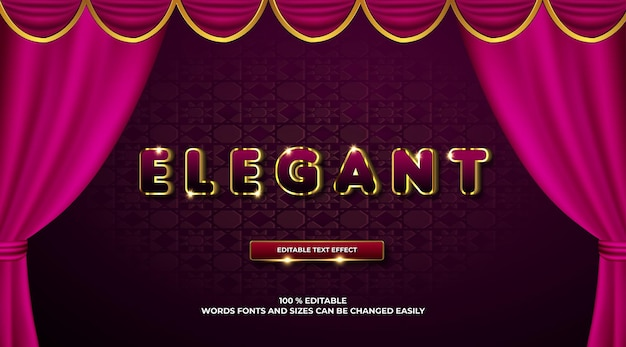 Elegancki szablon 3d z efektem tekstowym