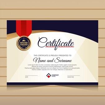 Elegancki szablon certyfikatu dyplomu