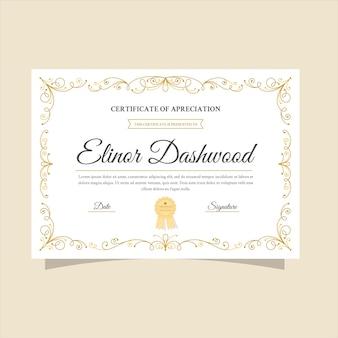 Elegancki szablon certyfikatu gotowy do wydruku