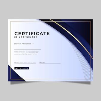 Elegancki szablon certyfikatu gradientu