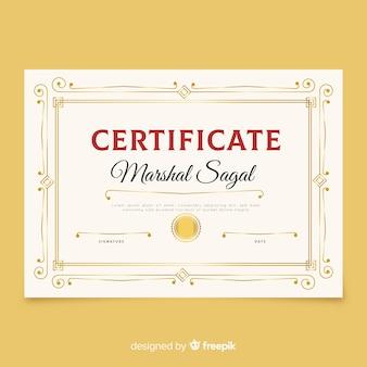 Elegancki szablon certyfikatu retro