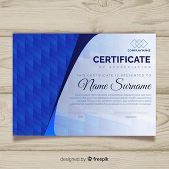 Elegancki szablon certyfikatu w streszczenie styl