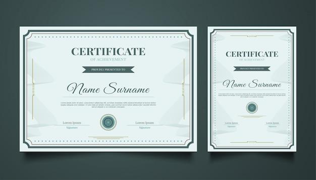 Elegancki szablon certyfikatu w stylu vintage