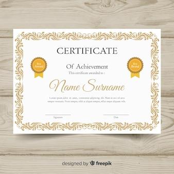 Elegancki szablon certyfikatu z ramką ozdobną
