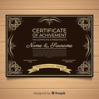 Elegancki szablon certyfikatu z rocznika